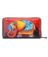 APHISON Card Holder Zipper Purse Women Phone Clutch Wallet Painting Wris... - $639,95 MXN