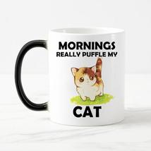 """Mornings Really Puffle My Cat"" Ceramic Coffee Mug - $24.99"