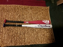 2 youth baseball bats one is adidas and easton both 25 inches - $11.88