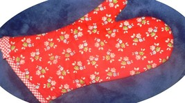 The Best Quilted Oven Mitts & Pot Handles on eBay!! Handmade Red Print  # 1 - $7.50