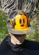 Disney Parks Mickey Mouse Hat Cap Wearing Headphones Gray/Orange Embroidery - $21.49