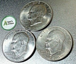 Eisenhower  Dollar 1971 P, 1972 D and 1974 AA20D-CND8000