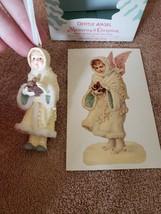 NIB Hallmark Gentle Angel Christmas Memories Ornament, Vintage Postcard FS - $9.90