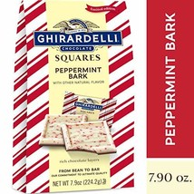 Ghirardelli Limited Edition Peppermint Bark Squares Bag, Milk Chocolate, 7.9 Oun