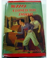 Who Closed the Door Perry Pierce mystery no.1 by Hardy Boys author red hcdj - $18.00