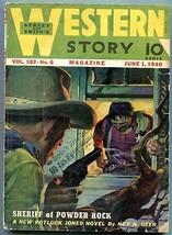 Western Story Magazine Pulp June 1 1940- Sheriff of Powder Rock G/VG - $31.53