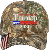 West Virginia for Trump US Flag 2020 Gift One Size Fits All Embroidered Hat - $17.99