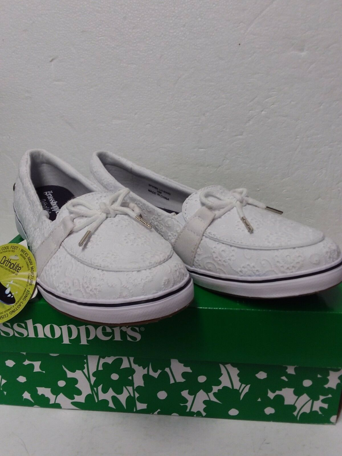 Primary image for Grasshoppers Women's Windham Eyelet White Sneaker - Womens Size 10M
