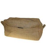 Natural Jute Toiletry Cosmetics Travel Bag Makeup Environmentally Friendly - $9.89