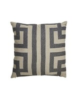 "Jaipur Geometric Pattern Taupe/Gray Linen Poly Filled Pillow 22""x22"" - $112.92"
