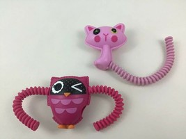 Lalaloopsy Pink Cat Purple Owl Doll Pet 2pc Lot Toy Accessory MGA Replacement - $12.42
