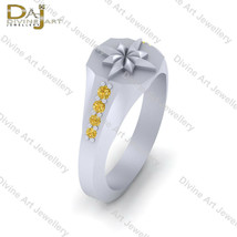 0.15ct Yellow Diamond Wedding Ring Women Captain Marvel Inspired Engagem... - £72.28 GBP