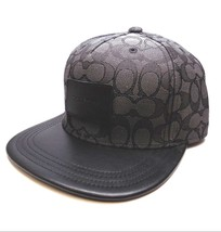 BRAND NEW MEN'S COACH (F33776) FLAT BRIM SIGNATURE BLACK ADJUSTABLE HAT CAP - $89.00