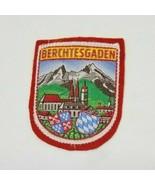 BERCHTESGADEN Germany Crest Castle Alps Felt Travel Souvenir Vintage Bad... - $6.99