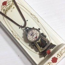 Disney Beauty and the Beast Cogsworth Pendant Watch Strap Watch Necklace - $55.44