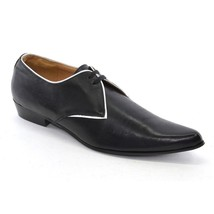 Men Shoes Leather size T Pointed Black Toe Lace U 43 OXFORDS K Up TUK 10 1fqwBPY1