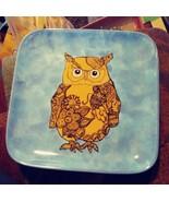 Owl Dish Ceramic Serving Dish kitchen home decor - $45.00