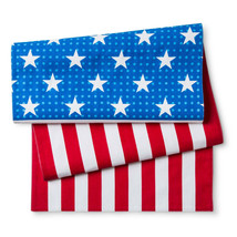 Poptimism! Stars and Stripes American Flag Table Runner Red/Blue/White - $12.86