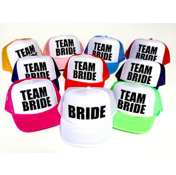 BRIDE-TO BE-TEAM-BRIDE-HATS, Bridal-Shower, Bachelorette-Party, Wedding! HOT! for sale  USA