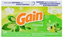Gain Fabric Softener Dryer Sheets, 20-ct. Box - $5.89