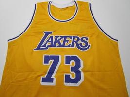 DENNIS RODMAN / NBA HALL OF FAME / AUTOGRAPHED L.A. LAKERS CUSTOM JERSEY / COA image 2