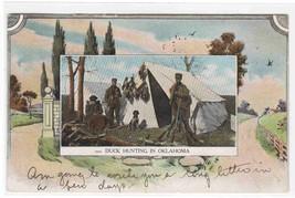 Duck Hunting Hunters Oklahoma 1909 postcard - $9.41