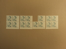 USPS Scott 2193 $1 Bernard Revel 1992 Lot Of 4 Plate Block 15 Stamps Min... - $46.61