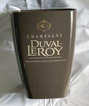 Duval Leroy champagne Plastic Ice Bucket Createur D'Excellence Depuis 18... - $44.50