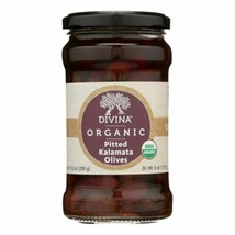 Divina Organic Pitted Kalamata Olives - Case Of 6 - 6 Oz. - 45144423 - $51.97