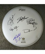Guns N Roses Autographed Drum Head COA Slash Axl Rose Duff McKagan Steve... - $800.00
