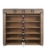 NEW 36 Pair Dustproof Cover Closet Shoe Organizer Storage Rack Boots 7 T... - $54.44
