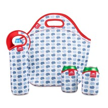 Insulated Neoprene Lunch Box Set For Unisex Kids Lunch Tote Bottle Coole... - $30.09