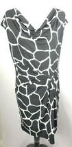 MICHAEL Michael Kors Dress L Black White Giraffe Print Stretch NWT! $120 - $89.09