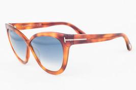 Tom Ford Arabella Blonde Havana / Blue Gradient Sunglasses TF511 53W - $175.42