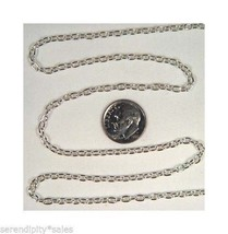 50 Meters (164 Ft) 4mm x 3mm Silver Plated Cable Chain Bulk Smooth Sturd... - $49.18