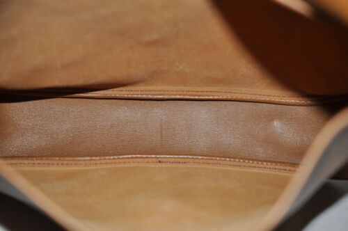 HERMES Christine Shoulder Bag Leather Brown Auth 5676 image 11