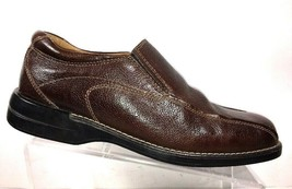 BASS Men's Size 9 M Loafers Brown Pebbled Leather Slip On Bicycle Toe  Shoe - $44.87