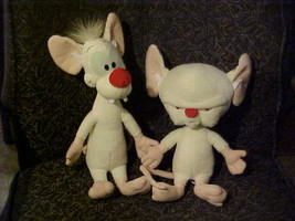 Pinky and The Brain Plush Toys Poseable Tails From 1994 Warner Bros and ... - $98.99