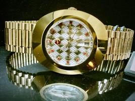 New Rado Diastar R120484712 Automatic Gold Plated Swiss Men's Wrist Watch . - $680.13