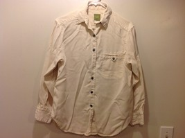 Pulp Long Sleeve Button Up Collared Sandy Colored Shirt Sz PL image 1