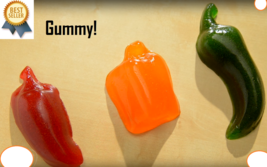 NEW Spicy Gummy Peppers (3-pack) with real pepper! Realistic Party Candy... - $19.75