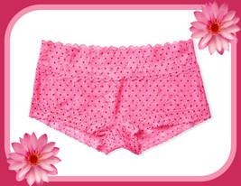 M    XL Pink Berry Dot FLORAL LACE THE LACIE Victorias Secret SHORTIE RA... - $12.50