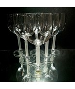 6 (Six) VINTAGE MIKASA HORIZON Frosted Stem Crystal Wine Glasses DISCONT... - $67.68