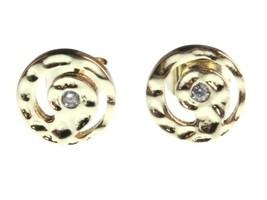 Nuovo Kevia 18K Placcato Oro Zircone Cubico Cristallo Rétro Vortice Post Bottone image 1
