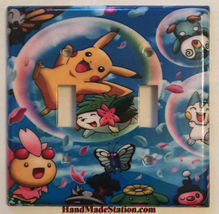 Pokemon Happy Pikachu & Friends Light Switch Outlet Wall Cover Plate Home Decor image 5