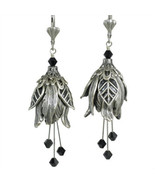 Flower Fairy Modern Love No Monet Earrings Hand Crafted USA Hand Painted... - $46.99