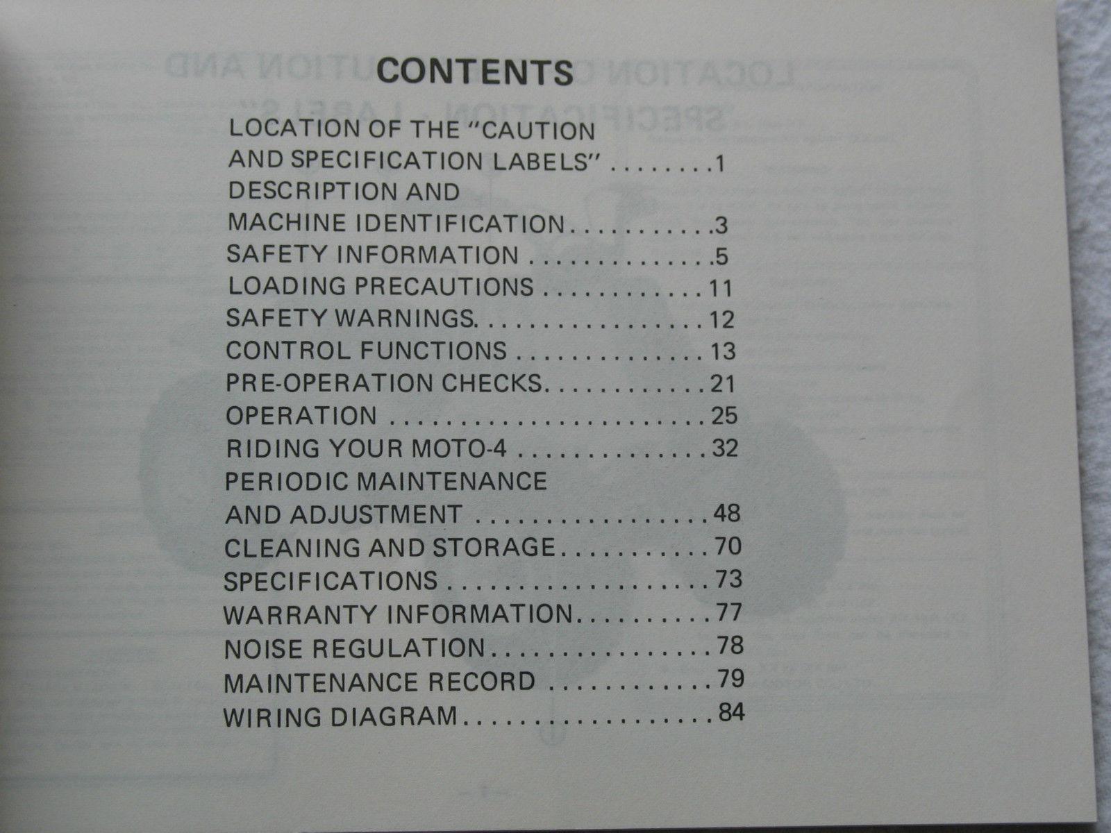 1985 85 Yamaha Badger Yfm80n Yfm80 Yfm 80 And 32 Similar Items Moto 4 80cc Wiring Diagram Owners Owner Service Manual