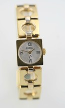 Fossil F2 Womens Watch Stainless Gold Steel Water Resistant White Battery Quartz - £25.58 GBP