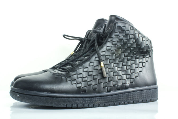 New NIKE Air Jordan SHINE 11.5 leather basketball shoe $400 black Michael hi top