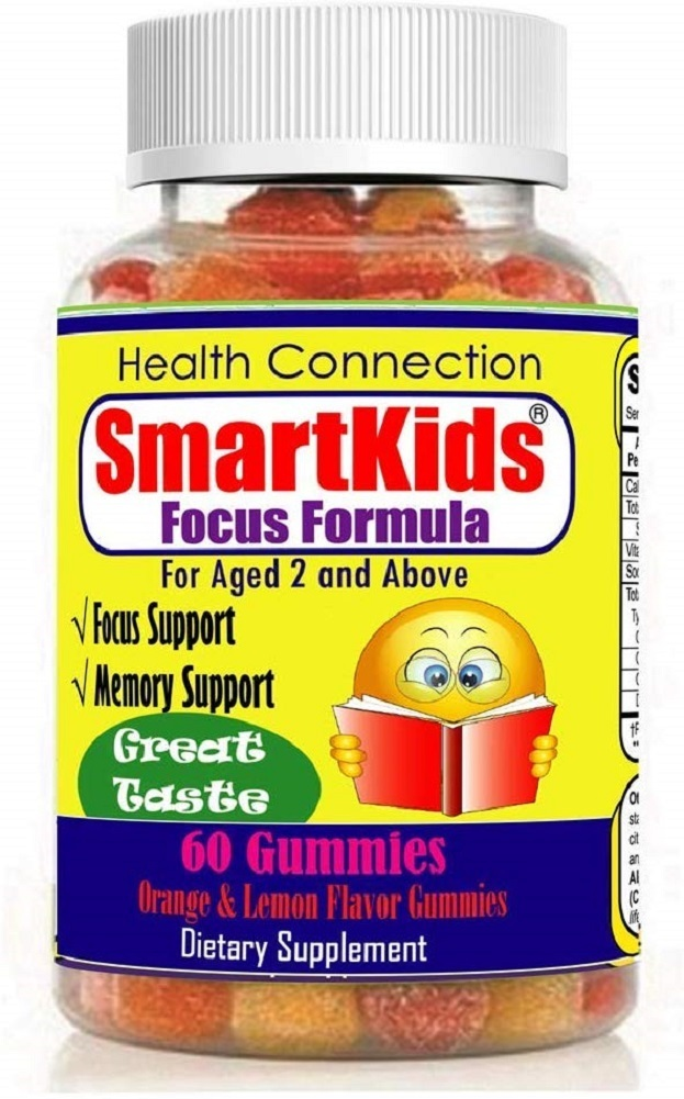Primary image for SmartKids - Brain Focus & Memory Formula Gummies, Kids & Teens, Improve Memory,